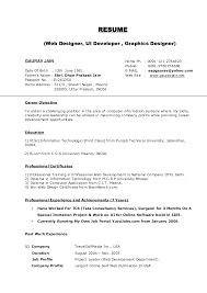 Cosy Resume Samples For Freshers Pdf Free Download With Resume
