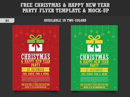 Flyer Formats Free Christmas Happy New Year Party Flyer Template Mock