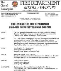 Media Advisory Emergency Plans Office Buildings Readiness Apps Accidents Response