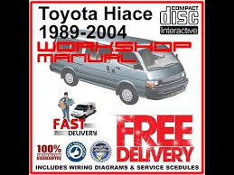 Toyota Hiace workshop Manual 1989 - 2004 - YouTube
