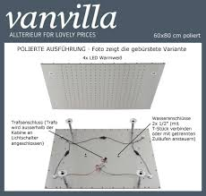 Duschkopf Vanvilla Led 60cm X 80cm Poliert 116080w P Led