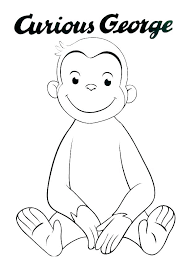 Curious George Coloring Pages Of Printable Face Dpalaw