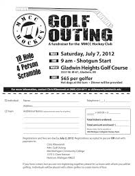 designing a golf tour nt flyer bing images work mid michigan community college hockey fundraiser golf outing