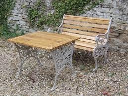victorian ornate cast iron garden seat