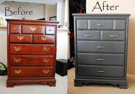 chalk paint furniture before and afterAntique Dresser before and after refinishing by AM Furniture Fin
