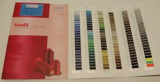 Colour Card Amann Serafil 8 10 15 20 30 40 60 80