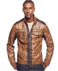 inc international concepts jones two tone faux leather jacket only at macys 129 macy s lookastic com