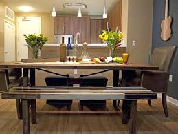 bench style kitchen tables picnic style kitchen table awesome dining room home regarding 8 bench style