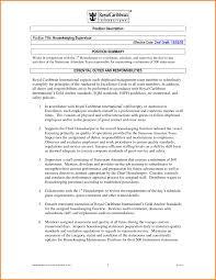 Resume Format For Hotel Job Housekeeping Resume Duties Housekeeper Resumes Letter Of 93