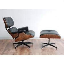 replica eames lounge chair and ottoman black. mid century modern classic walnut plywood lounge chair \u0026 ottoman with black premium top grain leather replica eames and a