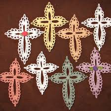 Crochet Cross Pattern Awesome Small Lace Cross Crocheted Ornament Or Bookmark Heritage
