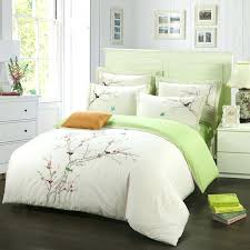 tree bedding sets embroidery plum tree magpie birds cotton bedding sets queen king size duvet cover set beige green bed linen in bedding sets from home