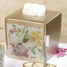 Mosaic Bathroom Accessories Sets Watercolor Floral Mosaic Bath Accessories