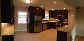 Sears Kitchen Furniture Cool Minimize Kitchen Room With Oak Ceramic Floor And White