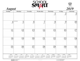 17 Month Calendar School Smart 17 Month Desk Pad Calendar Refill Sheets August 2019 To December 2020