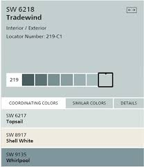 Sherwin Williams Color Chart Sherwin Williams Tradewind Paint Color Seas Your Day