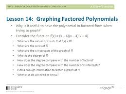 34 lesson 14 graphing factored polynomials