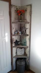 old door corner shelf more