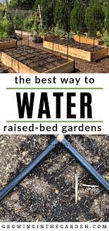 best way to water raised bed gardens