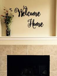 welcome home metal lettering metal wall art cursive text personalized gift  on metal lettering wall art with welcome home metal lettering metal wall art cursive text