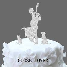 Funny Wedding Cake Topper Silhouette Dog Silhouette Wedding Cake