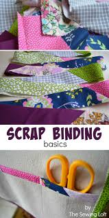 How to Create Scrap Binding - The Sewing Loft & How to Create Scrap Binding Adamdwight.com