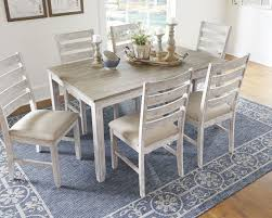 Light Wood Dining Table Chairs Ashley Skempton White Light Brown Dining Room Table Set 7 Cn
