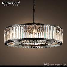 round crystal chandelier lighting crystal lamp illumination hanging light for living room hotel suspension res de cristal modern crystal pendant light