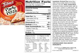 nutrition pizza facts topping rolls food party totinos cheese labels pizza pizza for