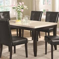 Round Marble Table Set Amazing Design Faux Marble Top Dining Table Set Skillful Dining
