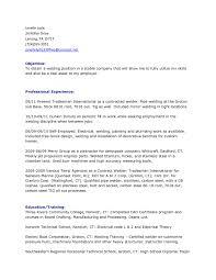 Cover Letter Welder Resume Template Welder Resume Sample Objective