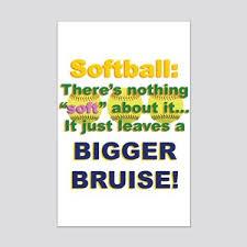 Softball Posters Cafepress