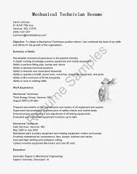 Resume For Mechanical Technician Proyectoportal Com