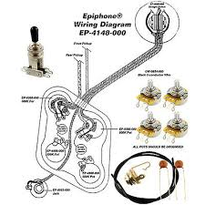 wiring kit for fender acirc reg jazz bass complete w diagram cts wiring kit for epiphoneacircreg les paul complete w diagram cts pots switchcraft switch