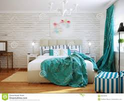 Modern Turquoise Bedroom Design Bright And Cozy Modern Bedroom Interior Design With White