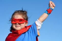 Superhero Child Girl Power Stock Images Download 2 884