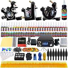 Solong Tattoo® <b>Complete Tattoo Kit</b> 3 Pro Machine Guns 40 Inks ...