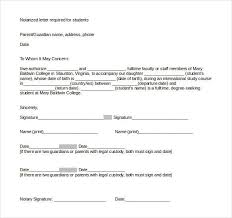 Samples Of Notary Letters 32 Notarized Letter Templates Pdf Doc Free Premium Templates