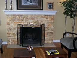 faux finishes brick fireplace