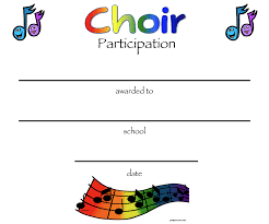 Choir Certificate Template 8 Free Choir Certificate Of Participation Templates Pdf
