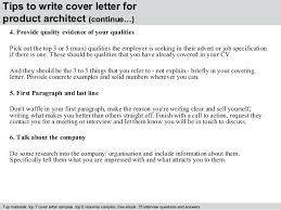 Architectural Cover Letter Cover Letter Examples For Architecture