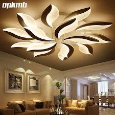 new flower diy acrylic led ceiling light modern living room ceiling lamps bedroom indoor lighting hotel