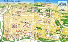 maps update  tourist map of jerusalem –  toprated
