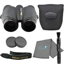 Lumintrail Keychain Light Nikon Travelite 10 X 25mm Compact Binoculars Bundle With Nikon Microfiber Optics Cleaning Cloth And Lumintrail Keychain Light