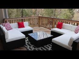 outsunny outdoor patio sofa sectional