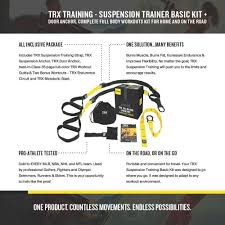amazon trx basic suspension trainer kit full body 20 minute workouts home gyms sports outdoors