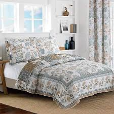 white king quilt set. Fine White All American Collection New Reversible 3pc Floral Printed BlueWhite  BedspreadQuilt Set King  CalKing Size And White King Quilt O