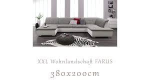 Wohnlandschaft Couch Garnitur Sofa Möbel Wurm Farus