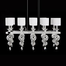 modern italian rectangular polished chrome chandelier
