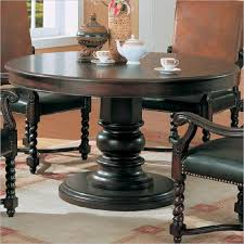 round dark wood pedestal dining table tables